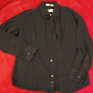 Boy's Calvin Klein Striped Button Up Size 8
